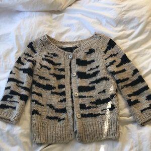 Sleeping on Snow Zebra ish sweater